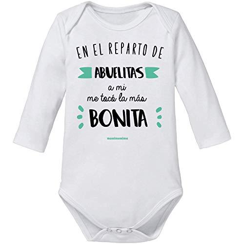 """Body Bebé Abuela""""En El Reparto De Abuelitas A Mi Me Tocó La Más Bonita"""" (6 MESES, MANGA CORTA)"""