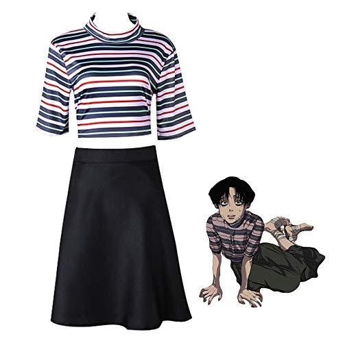 Manga Killing Stalking Disfraz de Cosplay Yoonbum Yoon Bum Disfraz de Cosplay Uniformes de carnaval de Halloween Camiseta casual + traje de falda Uniformes de carnaval de Halloween personalizados