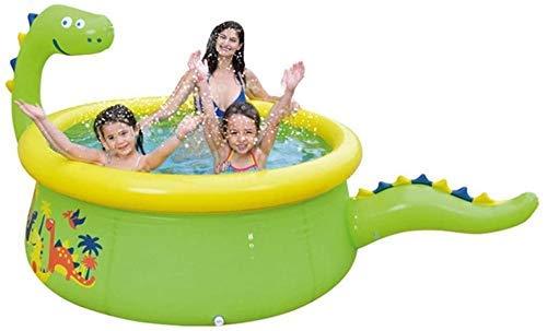 FEEE-ZC Piscina Inflable Juego de Agua en Aerosol en Verano Parque acuático Centro de natación Piscina Familiar Piscina de Bolas Juguetes al Aire Libre para niños Adultos, Dinosaurio