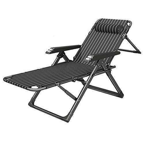 ZXL Gravity Chair,Garden Lounge Recliner,Portable Folding Sun Lounger,Folding Office Siesta Recliner, Home Multifunctional Siesta Bed Lazy Backrest Chair-2 * 1Blackbars,2 * 1Blackbars