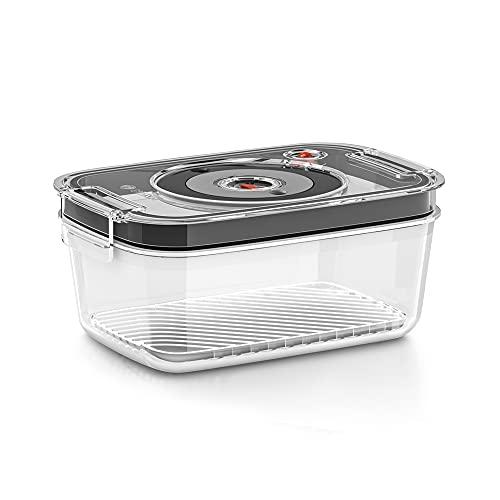Bosch Stabmixer Vakuumpumpen für ErgoMixx,MaxoMixx, Handrührer-Vakuumpumpe und VitaMaxx Vakuum-Mixer Batidora de Mano, Recipiente de Cristal, Transparente y Gris