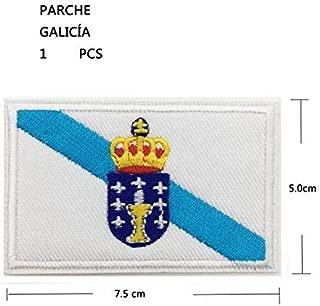 BANDERA DEL PARCHE BORDADO PARA PLANCHAR O COSER GALICIA Galicia-2