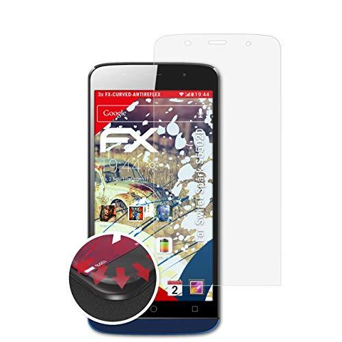 atFolix Schutzfolie kompatibel mit Switel Spark S5502D Folie, entspiegelnde & Flexible FX Bildschirmschutzfolie (3X)