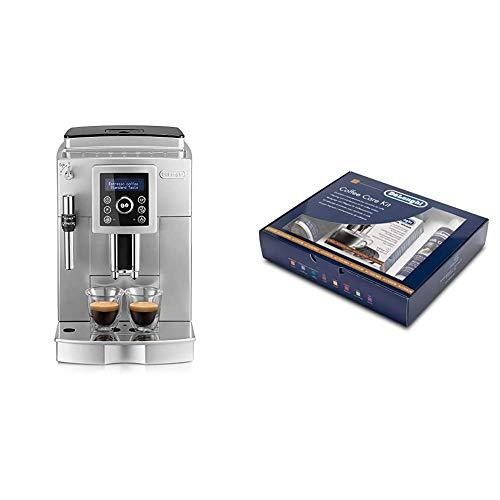 De'longhi - Cafetera Superautomática 15 Bares de Presión, Espresso y Cappuccino, Depósito de Agua Extraíble 1.8 l + 5513292831 - Kit de limpieza y mantenimiento para Cafeteras automáticas