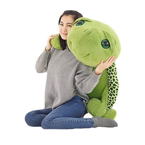 Balancines de peluche Peluche Animal De Peluche Muñeca De Peluche Linda Almohada De Tortuga Cojín Ragdoll Regalo De Cumpleaños (Color : Green, Size : 150cm)