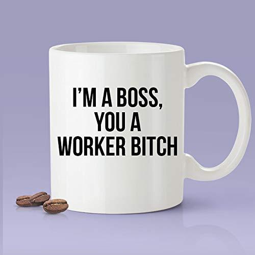 N\A Soy un Jefe, tú una Perra trabajadora - Taza de café Inspirada en Cardi B - Me Gusta - Cardi B