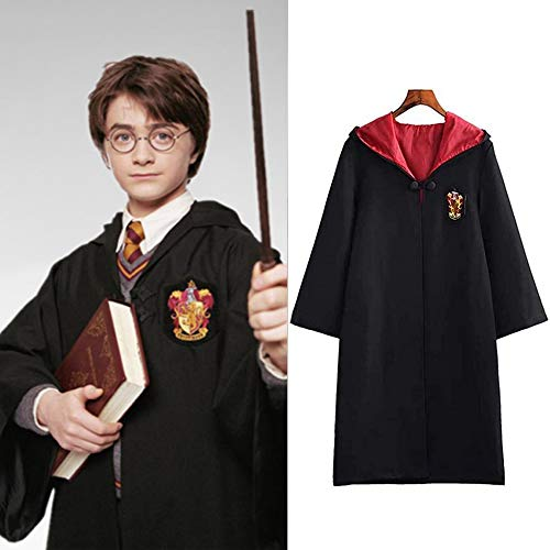 Harry Cosplay Costume for Adults Gryffindor Cloak Cape Tie Shirt Carnival...