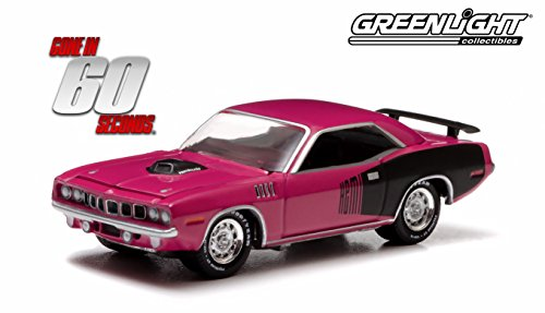 "1971 PLYMOUTH HEMI 'CUDA ""SHANNON"" from the 2000 thriller GONE IN 60 SECONDS GL Hollywood Series 7 2014 Greenlight Collectibles Limited Edition 1:64 Scale Die Cast Vehicle"