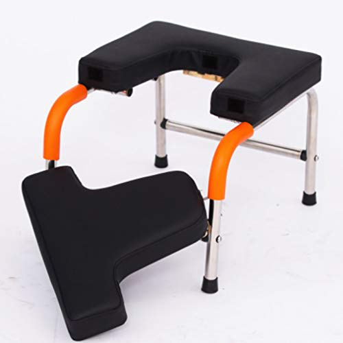 Lowest Price! Headstand Bench, Yoga Inversion Chair with PU Pads and Steel Legs, Headstand Trainer S...