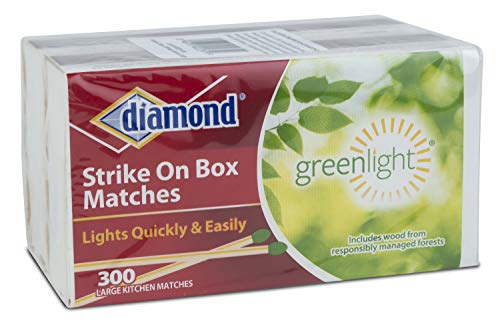 Diamond Greenlight Strike on Box Matches, 300 Count (Pack of 2)