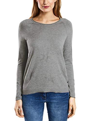 Cecil Damen 300756 Pullover, Grau (Mineral Grey Melange 10327), Large (Herstellergröße: L)