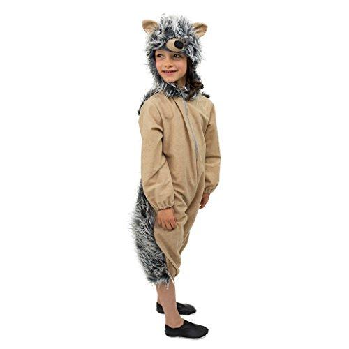 Krause & Sohn Costume Enfant hérisson Mecki, Taille 128, Jumpsuit Igelchen Animale Costume Carnival