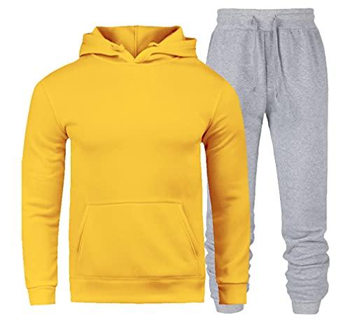 Uomini Felpa con cappuccio Sportswear Hoodies+Pantaloni Tuta Felpe, 107, S