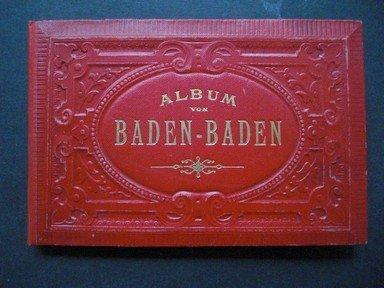 Album von Baden-Baden. Fotoleporello von 24 Glanzbildern der Stadt und Umgebung.