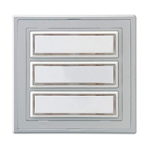 REV Ritter 0504350555 Klingeltaster Kunststoff, 3-Fach, Silber, 12 V