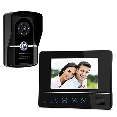 SEXTT Intelligente Video-Türklingel, HD CCD-Haustürklingel 7-Zoll-TFT-LCD wasserdichte Türklingel Zwei-Wege-Sprechanlage Türklingel