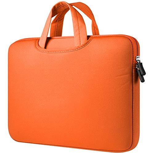 Funda para Portátiles, 13-13.3 Pulgadas Maletín con Asa para Ordenador Portátil Notebook - Ultrabook Tablet de Maleta Bolsa de Transporte,Naranja