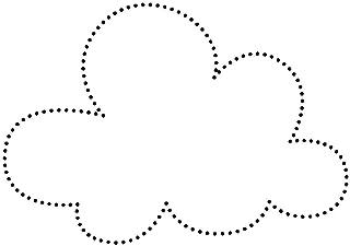 Deko Basteln 3-50cm Gr/ö/ße:3cm Pack mit:1 St/ück Holz Sprechblase Wolke V1