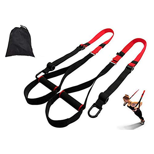 Schlingentrainer- High-End Sling Trainer,Schlingentrainer Sling Trainer Set mit Tasche,für unterwegs und für Zuhause, Home Workout, Home Gym- und Außenbereich