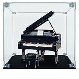 Teca de plexiglás – Arca Lite® | Compatible con piano de cola Lego (21323) (Teca sin fondo)