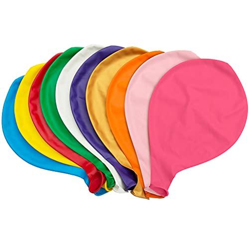 Globos Grandes, Comius Sharp 10 Piezas 90 cm de látex Gigante Globos de Colores para Fiesta cumpleaños Bodas Bautizo graduación Navidad Carnaval Celebraciones (Multicolor)