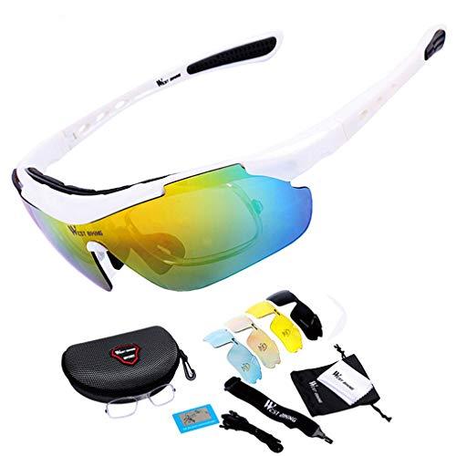 LBYSK Gafas de Sol de Ciclismo Gafas de Bicicletas, Gafas de Ciclismo al Aire Libre Gafas de Sol polarizadas para Mujeres y Hombres, Deporte Driving Cycling Polarized Gafas para Hombres Mujeres,D