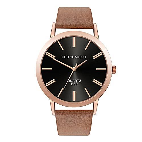 xy Relojes de Lujo Pulsera Casual para Mujer Minimalista Reloj de Cuero de Cuarzo Cinturón de Cuero Muñeca Moda Relojes Elegantes Relogio Feminino (Color : Large)