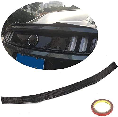 HYCy Alerón de Maletero Adecuado para Ford Mustang Coup & Eacute;GT Shelby Coup & Eacute;2015-2019 Fibra de Carbono CF Tapa de la Puerta Trasera Highkick Wing Lip