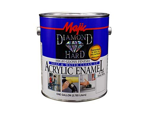 Majic Paints 8-1500-1 Diamond Hard Acrylic Enamel High Paint, 128 oz / 1-Gallon, Gloss White