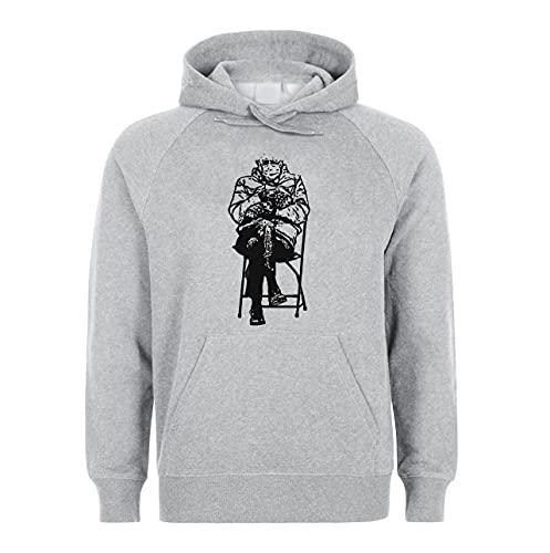 Bernie Sanders Sitting Meme Unisex Hoodie Sweatshirt Pullover Grey L