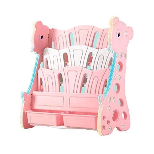 Boekenkasten Kasten, Rekken & Planken Children's boekenplank eenvoudige cartoon vloer staande opbergplanken kinderen foto boek planken kinderen puzzel assemblage boekenplank 88 * 40 * 80cm roze