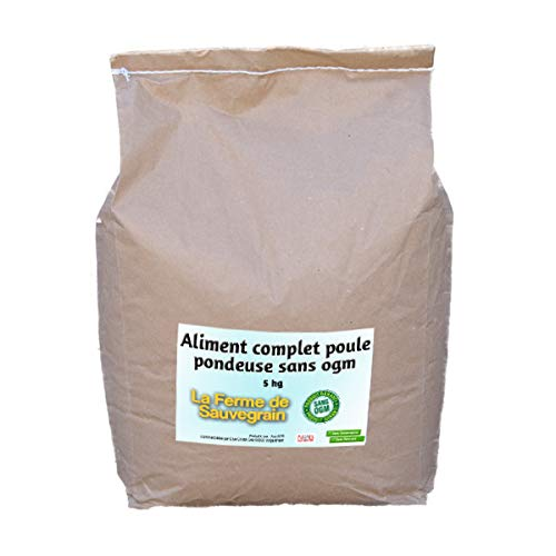 La Ferme Sauvegrain Aliment Complet pour Poules pondeuse Garanti sans OGM - 10 kg
