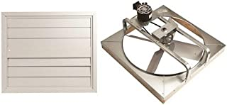 Ll Building Products 30BWHFS 30-Inch Whole House Fan/Shutter Belt-Drive - Deluxe