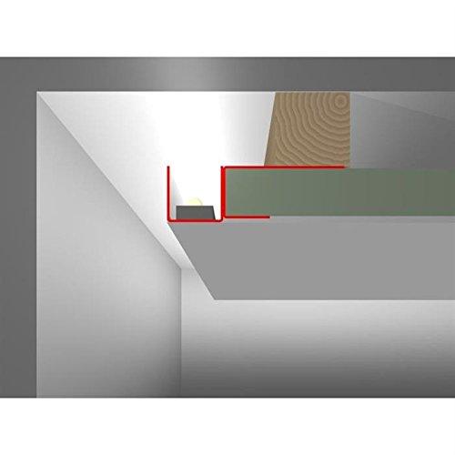 LED Trockenbau Profil DSL für schwebende Flächen (Länge: 2m) ; Rigips