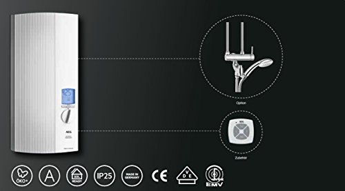 AEG vollelektronischer Durchlauferhitzer DDLE ÖKO TD, 27 kW, LCD, ECO-Funktion, Regendusche, 222399 - 7
