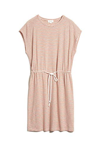 ARMEDANGELS LAAIKO Pretty Stripes - Damen Kleid aus Bio-Baumwolle L Starfish-Off White Kleider Jersey Loose fit