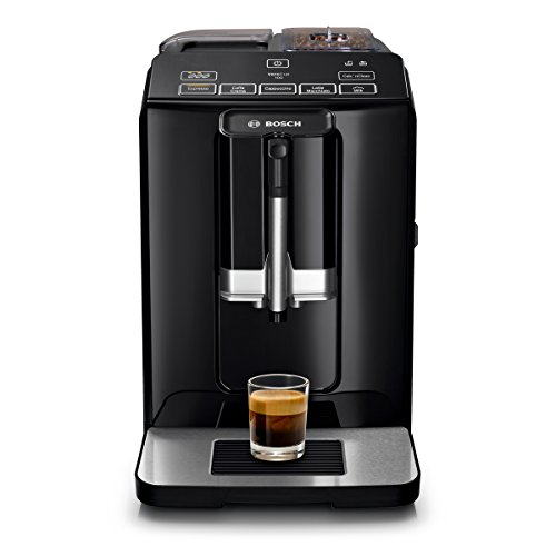 Bosch VeroCup 100 TIS30159DE Volautomatische espressomachine, 1300 watt, keramisch maalwerk, snelkeuzetoetsen, zwart