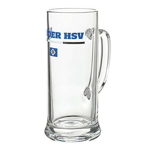 """Hamburger SV HSV Bierkrug Glas """"Nur der HSV"""