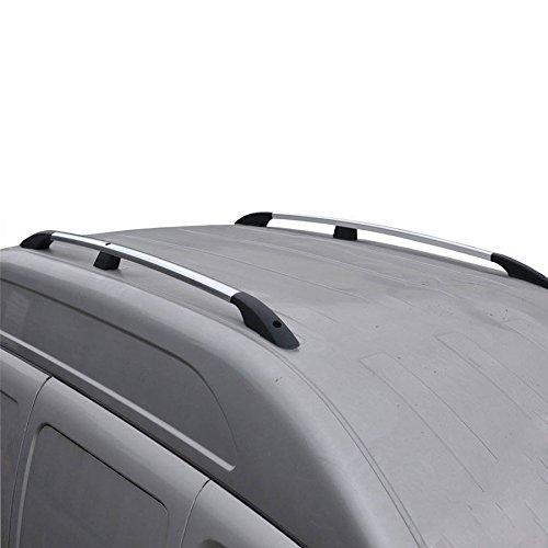 Barras portaequipajes de aluminio para Dokker 2012-2020, color gris, 2 piezas