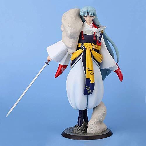 Inuyasha Anime Estatua Sesshoumaru Estatua Estática Juguete Alto 23 CM Modelo Hecho A Mano Estatua Anime Personaje Femenino Decoración de Escritorio Arte de Colección Material de PVC Ecológico