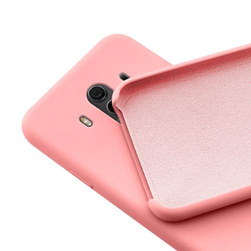 N NEWTOP Custodia Cover Compatibile per Huawei Mate 10 PRO, Ori Case Guscio TPU Silicone Semi Rigido Colori Microfibra Interna Morbida (Rosa)