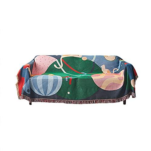 HIOD Thème de la Forêt Tropicale Multi-Fonction Canapé Gland Jeter Couverture pour Canapé Literie Maison Textile Mode Décoration Couverture Couvertures,63''x86.6''