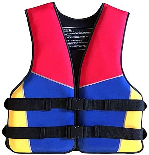 YZJL Chaquetas y Chalecos salvavidasChaqueta Flotante de Seguridad, Pesca, natación, Surf, Buceo, Kayak, embarque, Pesca, Chaleco Salvavidas, Chaleco para Adultos y niños, Transpirable(Size:X-Large)