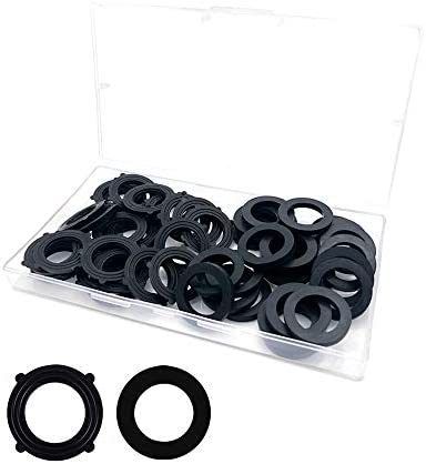 50PCS Garden Hose Washer Rubber Washer Two Style Types of Black Rubber Washer for All Standard product image