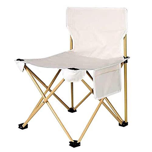 HDZW Kompakter Outdoor-Stuhl, Klapp-Camping-Stühle Leichte Aluminium-Tragbare Stühle Sitz Strandstuhl Kompakte Freizeit-Rückenlehne Angelhocker zum Reisen Angeln Wandern Picknicks