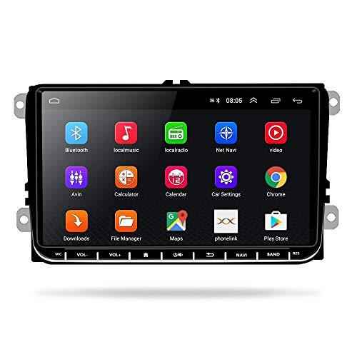 Autoradio Android per VW, 9'' touchscreen capacitivo navigazione GPS ad alta definizione Bluetooth autoradio Lettore USB per VW Passat Golf MK5 MK6 Jetta T5 EOS Polo + telecamera di retromarcia