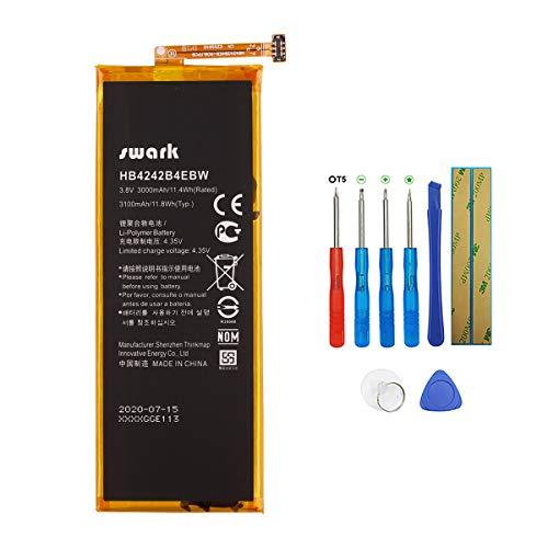 Swark HB4242B4EBW Akku Kompatibel mit Huawei Honor 6 7i 4x h60-l01 h60-l02 l04 l12 with Tools