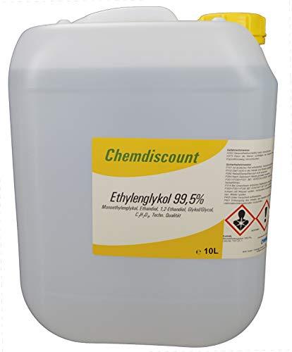 Chemdiscount 10Liter Ethylenglykol 99,5%, (Glykol, Monoethylenglykol, Ethandiol)