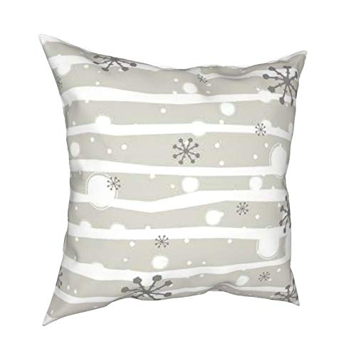 melendleo Hengjiang Weiang Halloween Party Cushion Cover45 * 45cm Cute Winter Seamless Pattern With Snowflakes.