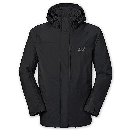 Jack Wolfskin Mens Brooks Range Jacket Black L